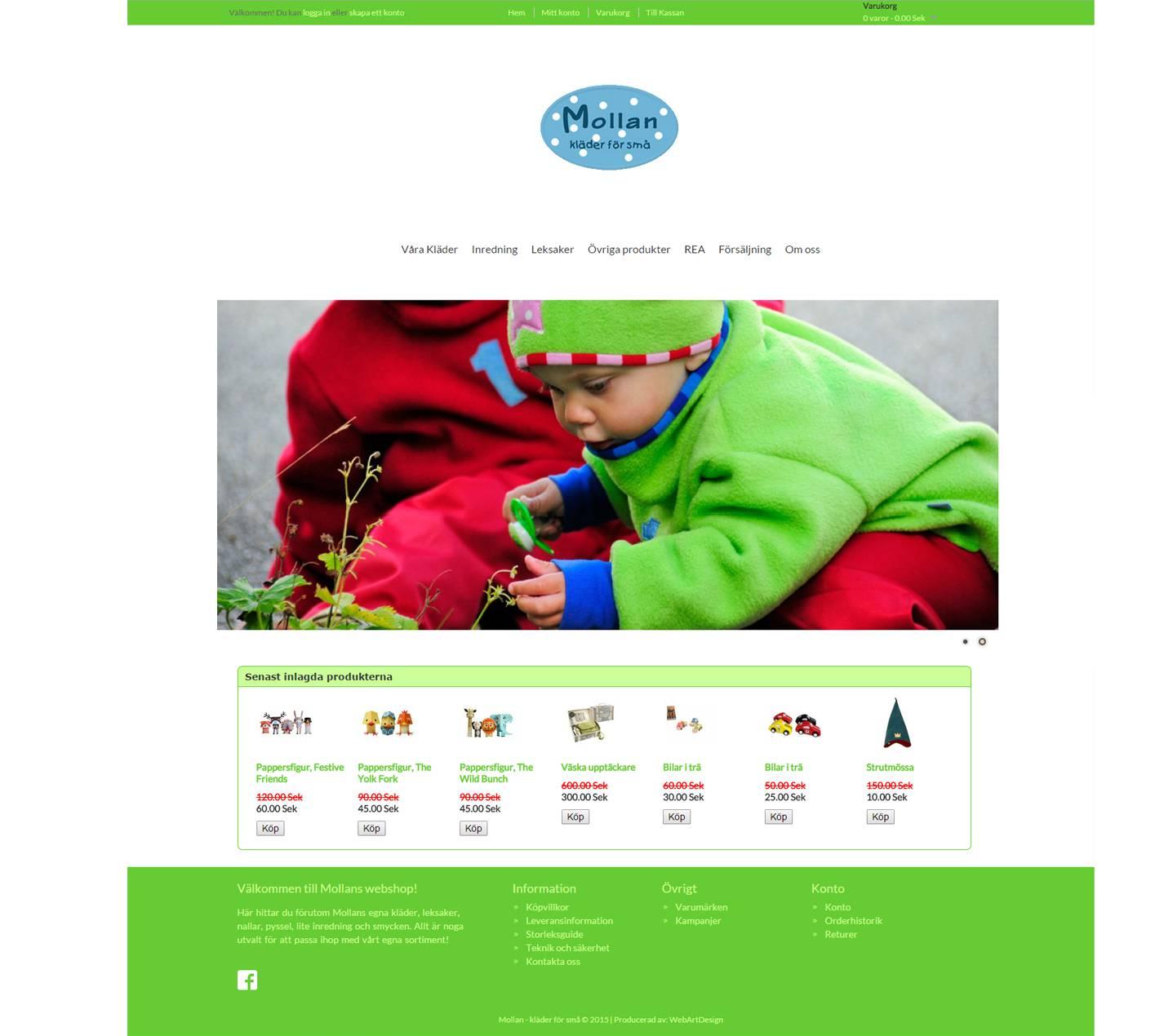 Mollan webbshop opencart